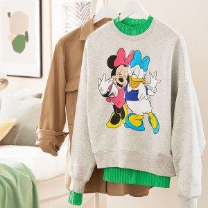 €10.99收米奇印花衬衫H&M 米奇系列美衣热卖 成人&童装均有 超萌Micky陪你过新年