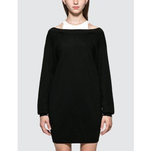 Alexander Want.TBi-layer Knit Dress with Inner Tank