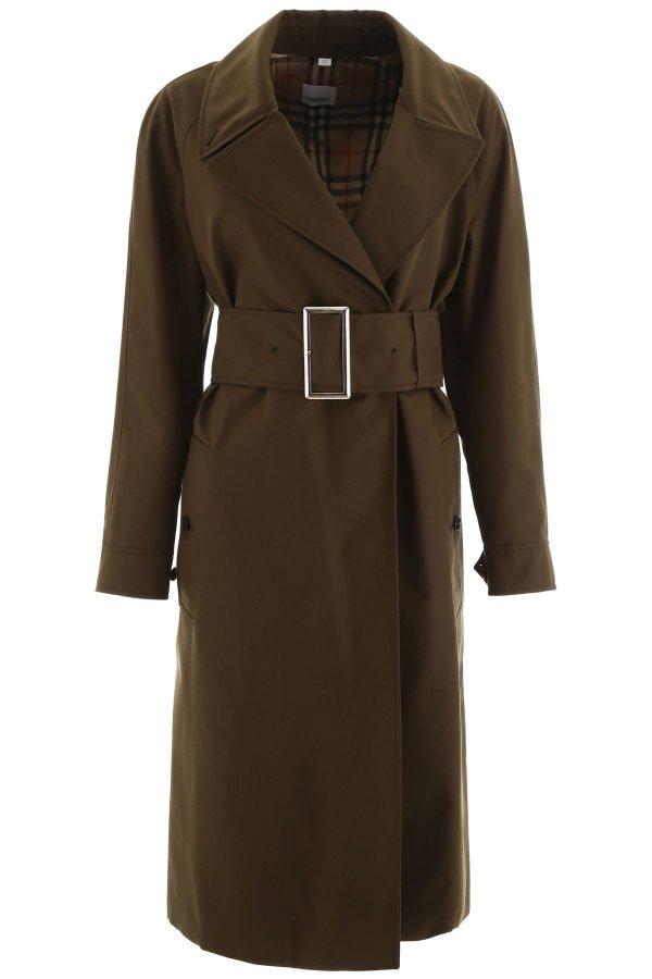 CAMELFORD 纯色风衣外套