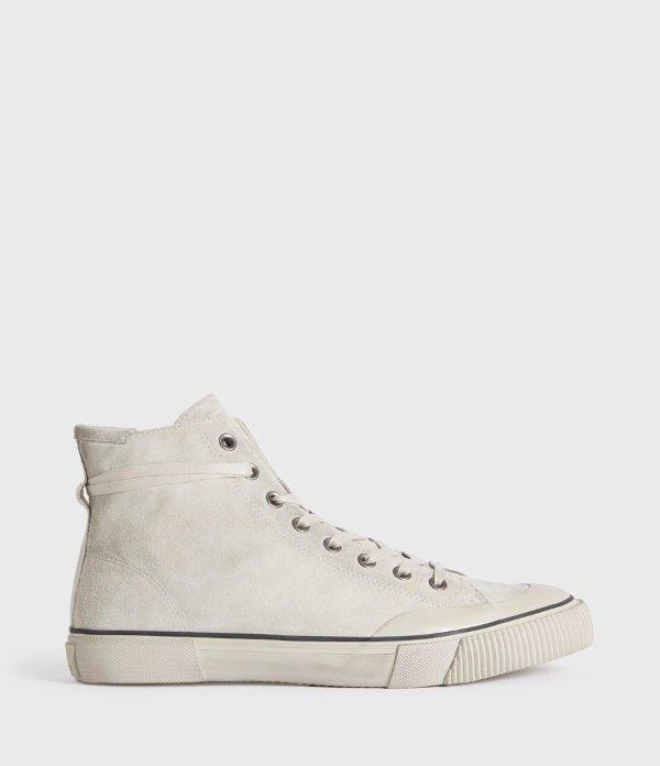 麂皮高帮鞋