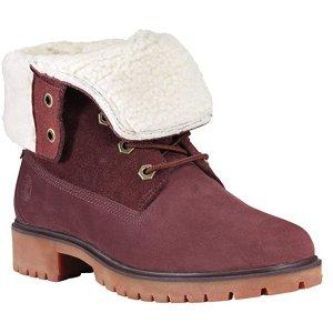 $80 (原价$160)Timberland 女士两穿式雪地靴  秋冬时髦浆果色