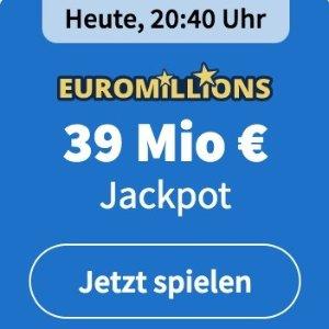 周二/五开奖 2注机会只要€6EuroMillions 彩票奖金累计3900万欧 单车秒变摩托
