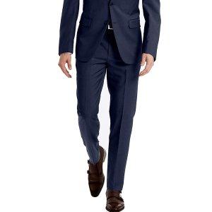 仅$33.3 通勤推荐 38码Calvin Klein 男士修身西裤热卖 100%羊毛 深蓝色