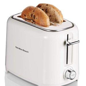 $22.99(原价$38.16)Hamilton Beach 22218 白色2片式烤面包机