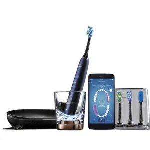 $319 (原价$399)内置感应芯片刷头今天截止:Philips飞利浦 钻石亮白电动牙刷套装 星空蓝