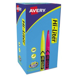 $5.19HI-LITER Pen Style, Chisel Tip, Assorted Colors, Box of 24 (29861)