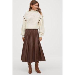 H&M百褶长裙