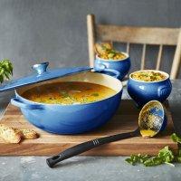 Le Creuset 4.25夸脱珐琅铸铁锅+2个陶瓷汤碗+汤勺