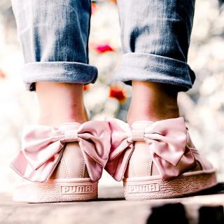 运动特惠¥349PUMA BASKET蝴蝶结女子休闲鞋 收封面同款