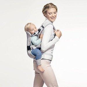 $175 (原价$239.99)BabyBjorn Baby Carrier One 银色超舒适 专业婴儿背带