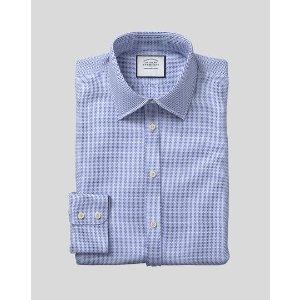 Charles TyrwhittClassic Collar Textured Design Shirt - Blue