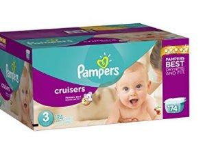 $31.64 - $32.42包邮Pampers Cruisers 婴儿纸尿裤超大包装, 3- 7号
