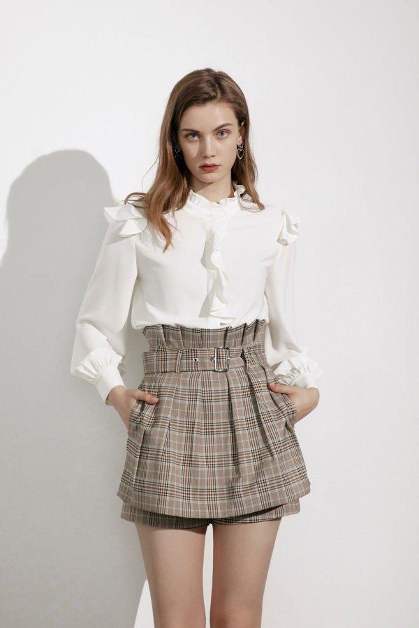 Kiki Plaid Paperbag 裙裤