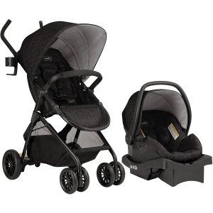 $219.97(原价$349.99)Evenflo Sibby 婴儿推车+婴儿提篮旅行套组 带有站娃小踏板