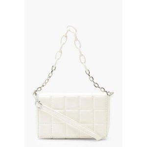 BoohooPU Quilted Cross Body Bag With Chunky Chain | boohoo