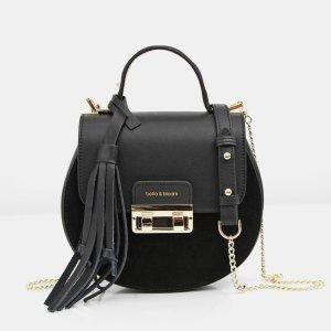 Belmore Exchange - Black Leather 斜挎包