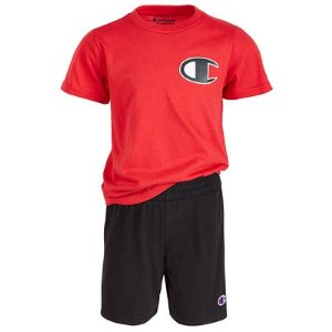 0fa6f6e69448 ChampionLittle Boys 2-Pc. Logo T-Shirt & Shorts Set. $11.99 $20.00. Champion  Little ...