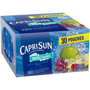 $6.16一袋仅$0.25Capri Sun 综合口味果汁饮料 30袋装 Lunch Box 必备