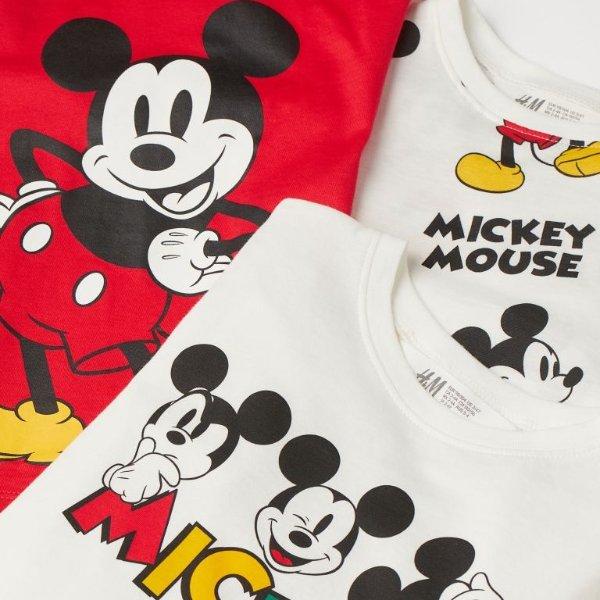 米奇T恤三件套