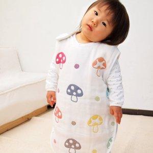 2件直邮加拿大到手价$64/件日本 Hoppetta 蘑菇 纱布 睡袋 特价 四季可用