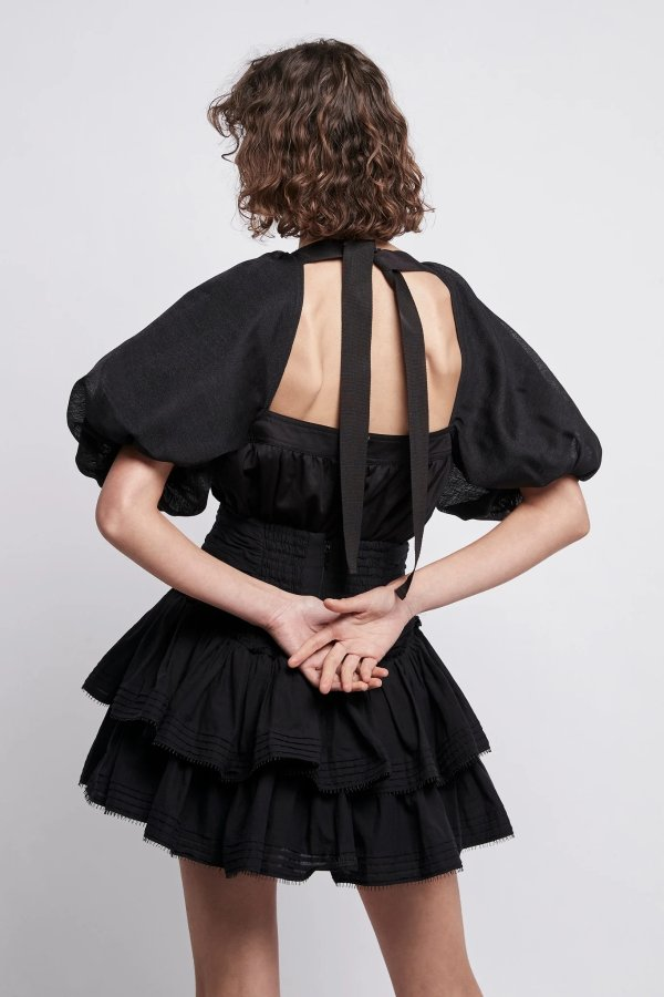 Positive 系带衬衣裙