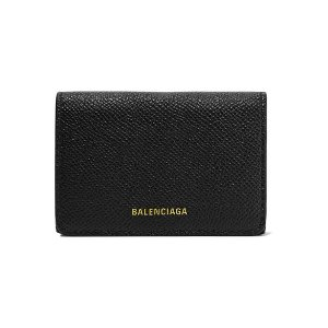 BalenciagaVille mini printed textured-leather wallet