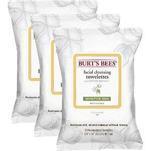 Burt's Bees Sensitive Facial Cleansing Towelettes (x3包)