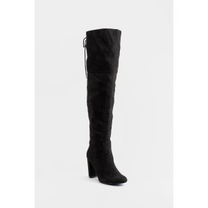 Francesca'sQupid Back Tie Thigh High Boots