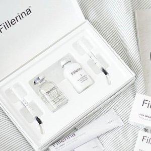 $119(原价$195) 细纹、皱纹、泪沟克星Fillerina 丰盈精华组合 可以涂抹的玻尿酸 年轻的秘诀