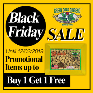 Select products up to buy 1 get 1 free100% Authentic American Wisconsin Ginseng Fall Sale