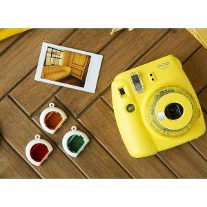 Fujifilm instax mini 9 嫩黄色 拍立得相机 5.8折特价