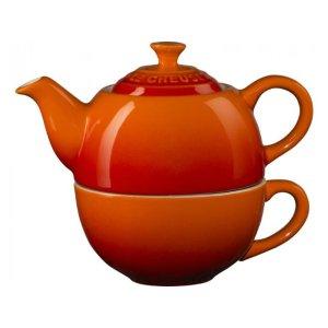 Le Creuset一人茶壶茶杯套装