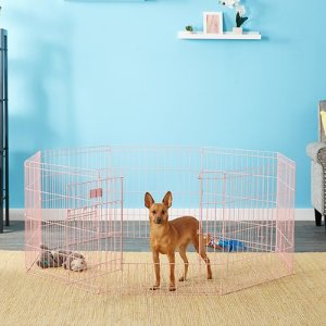 MidWest Exercise Pen 24-in with Full MAX Lock Door, Pink - Chewy.com