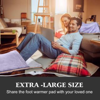 $25.49(原价$29.99) 空调房适用闪购:Proalle 法兰绒超大电暖毯/暖脚宝