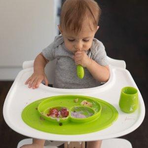 额外8折+无税 新增硅胶水杯、餐勺上新:EZPZ 儿童硅胶餐具特卖 宝宝饭后好干净