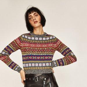 £19就收 爆好看ZARA 圣诞毛衣上新 可可爱爱在英国过圣诞节 好看又不贵