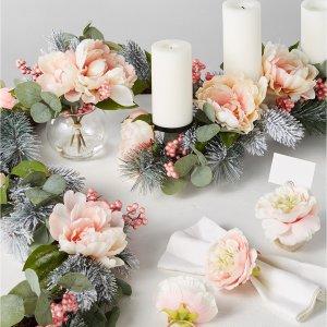 额外7折Martha Stewart 粉花系列装饰新品上市 适合婚礼及宴客
