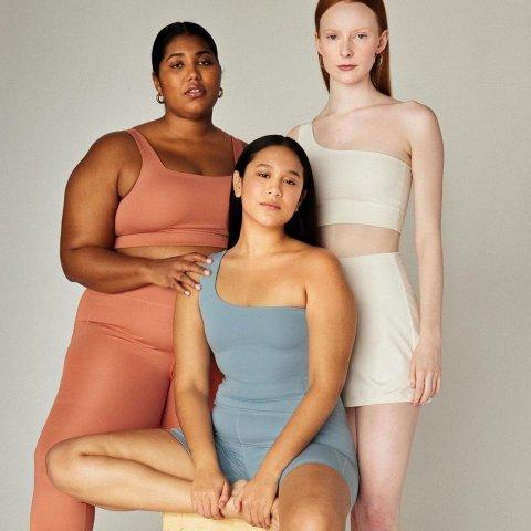 $65起 收舒适运动内衣Girlfriend Collective 运动套装热卖 极简莫兰迪色系