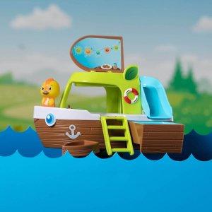 送动物公仔套装轮船玩具