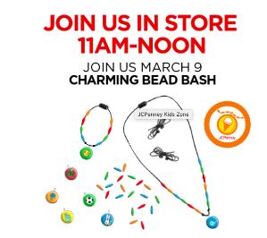 Free! Design Charming Bead BashKids Zone @ JCPenney