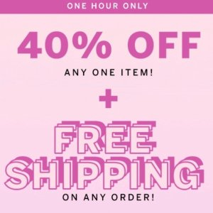 40% Off One Items + Free ShippingVictoria's Secret Flash Sale