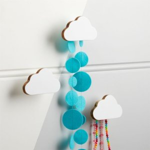 White Cloud Wall Hook, Set of 3 + Reviews   Crate and Barrel