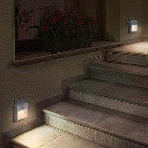 2只折后仅€10 亮度可调闪购:Lyridz 运动感应LED夜灯 暖白灯光向下照射 更加柔和