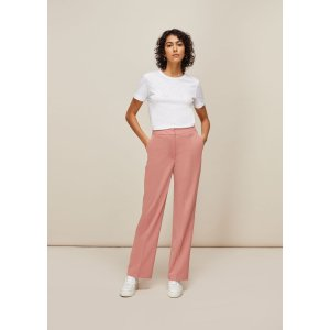 WhistlesPale Pink Aliza Tailored Trouser | WHISTLES | Whistles