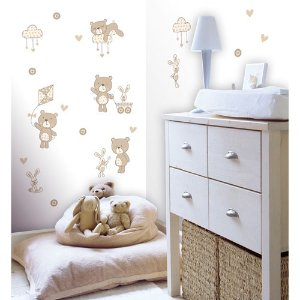 Fun4Walls Bear and Boo Neutral Wall Stickers
