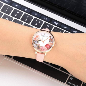 $10.99Top Plaza Rose Gold Case Flower Wrist Women's Watch