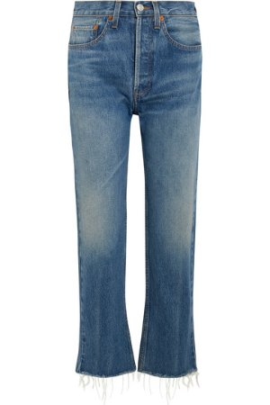RE/DONE | Originals High-Rise Stove Pipe straight-leg jeans | NET-A-PORTER.COM