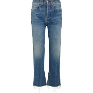 RE/DONE | Originals High-Rise Stove Pipe straight-leg jeans | NET-A-PORTER.COM