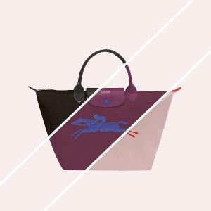 全场7.7折 多色可选超耐用Longchamp 经典饺子包、双肩包热卖 上学上班出勤必备