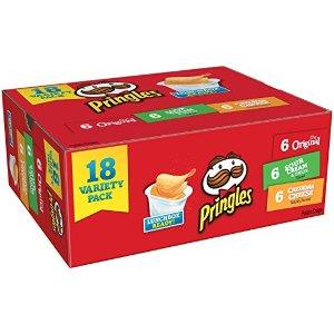 $5.72 免邮白菜价:Pringles 品客薯片 18小盒 3种口味